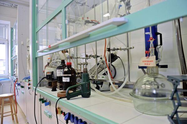 Лаборатория создателя лекарственного препарата мельдоний Ивара Калвиньша