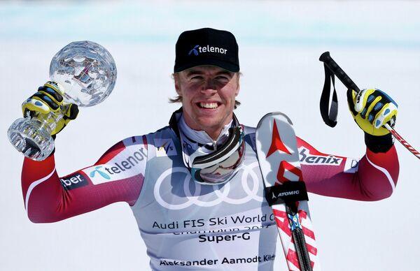 Норвежский горнолыжник Александр Омодт Кильде