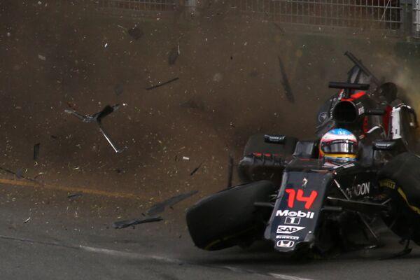 Авария Фернандо Алонсо на Гран-при Австралии-2016