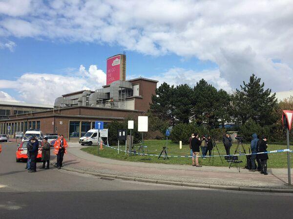Оцепление у аэропорта в Брюсселе, где произошел взрыв