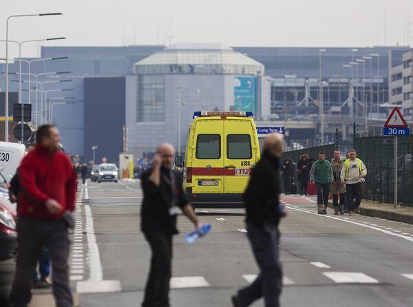 У аэропорта Завентем в Брюсселе, где произошел взрыв