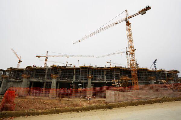 Строительство стадиона Волгоград Арена к чемпионату мира по футболу 2018 года в России