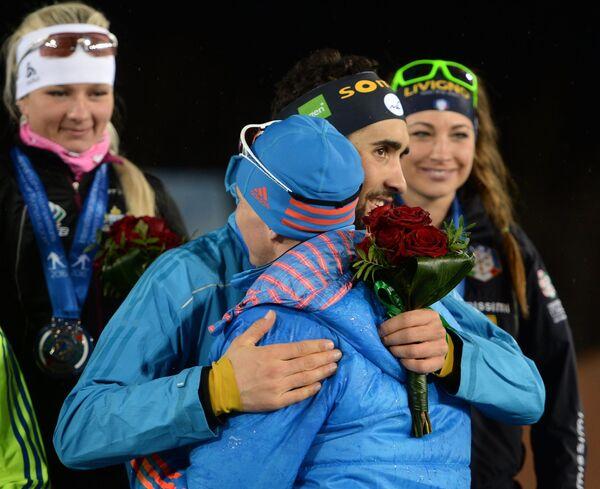 Слева направо на первом плане: Иван Черезов и Мартен Фуркад