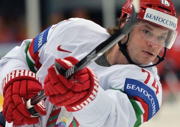 Форвард сборной Белоруссии по хоккею Сергей Костицын