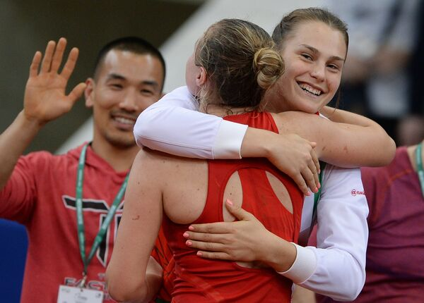 Александра Соснович (слева) и Арина Соболенко