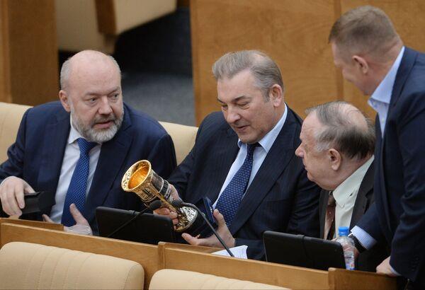Павел Крашенинников, Владислав Третьяк и Виктор Заварзин (слева направо)