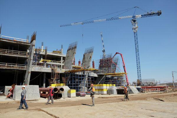 Строительство стадиона Самара Арена