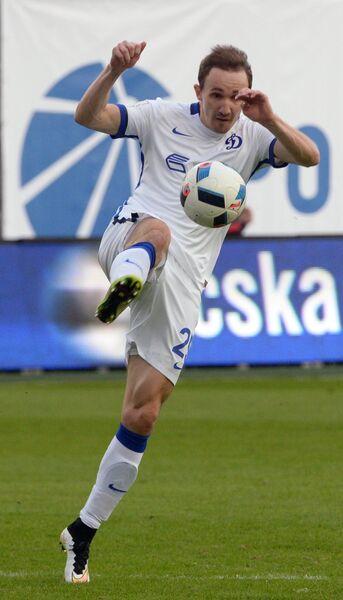 Защитник Динамо Алексей Козлов