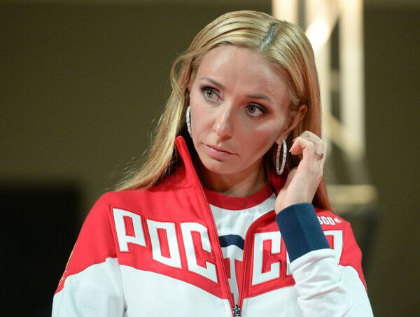 Олимпийская чемпионка по фигурному катанию Татьяна Навка