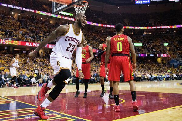 Игровой момент матча НБА Кливленд - Атланта