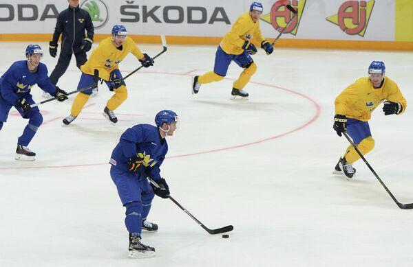 Игроки сборной Швеции по хоккею