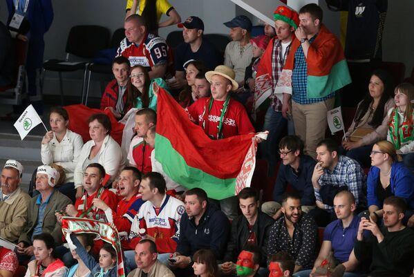 Болельщики сборной Белоруссии по хоккею