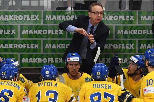 Тренер сборной Швеции Пер Мортс