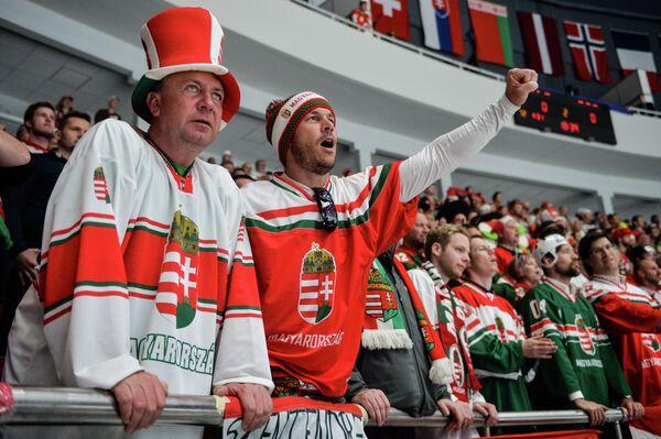 Болельщики сборной Венгрии по хоккею