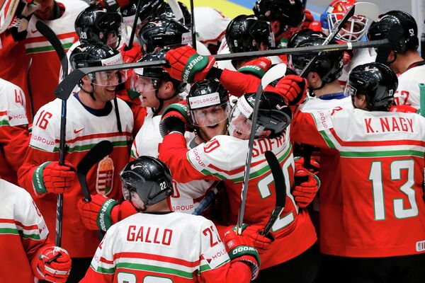 Хоккеисты сборной Венгрии