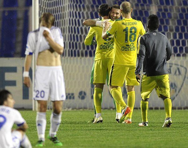Игроки ФК Анжи (справа)