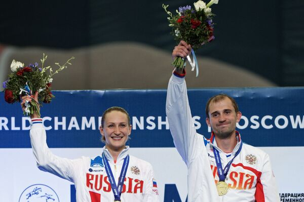 Российские спортсмены Доната Римшайте и Александр Лесун