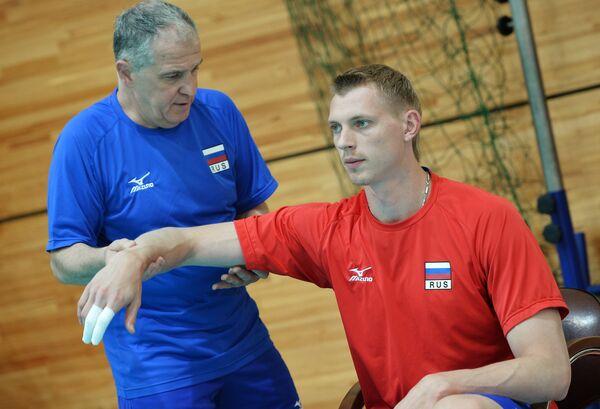 Диагональный мужской сборной команды России по волейболу Константин Бакун