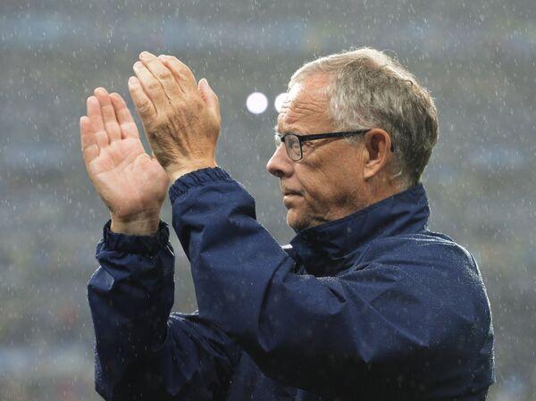 Главный тренер сборной Исландии Ларс Лагербек