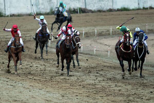 Участники конно-спортивных соревнований Большой Сибирский круг в Омске