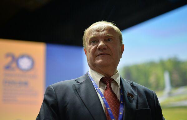 Руководитель фракции партии Коммунистическая партия Российской Федерации (КПРФ) Геннадий Зюганов
