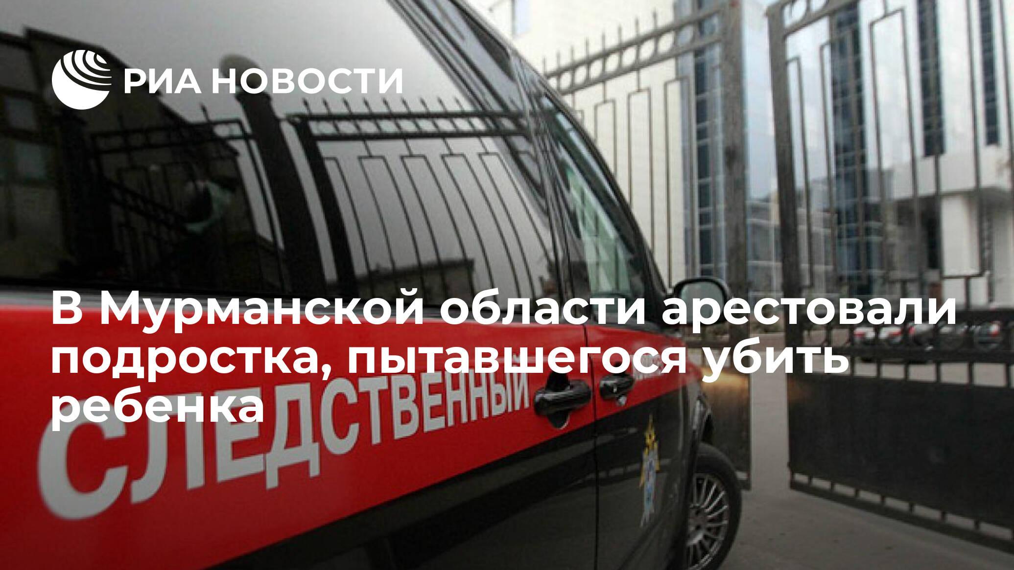 В Мурманской области арестовали подростка, пытавшегося убить ребенка