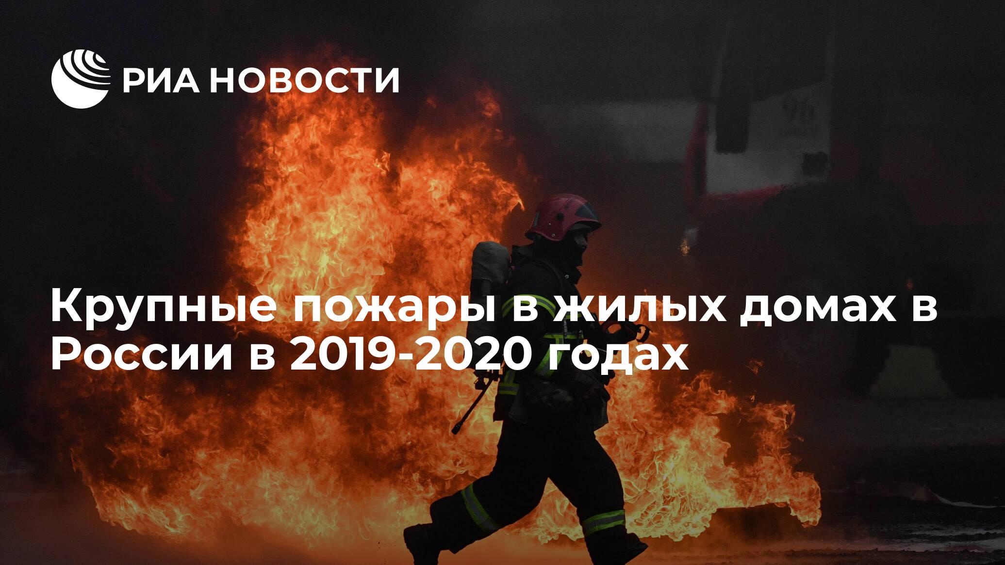 Крупные пожары в жилых домах в России в 2019-2020 годах ...
