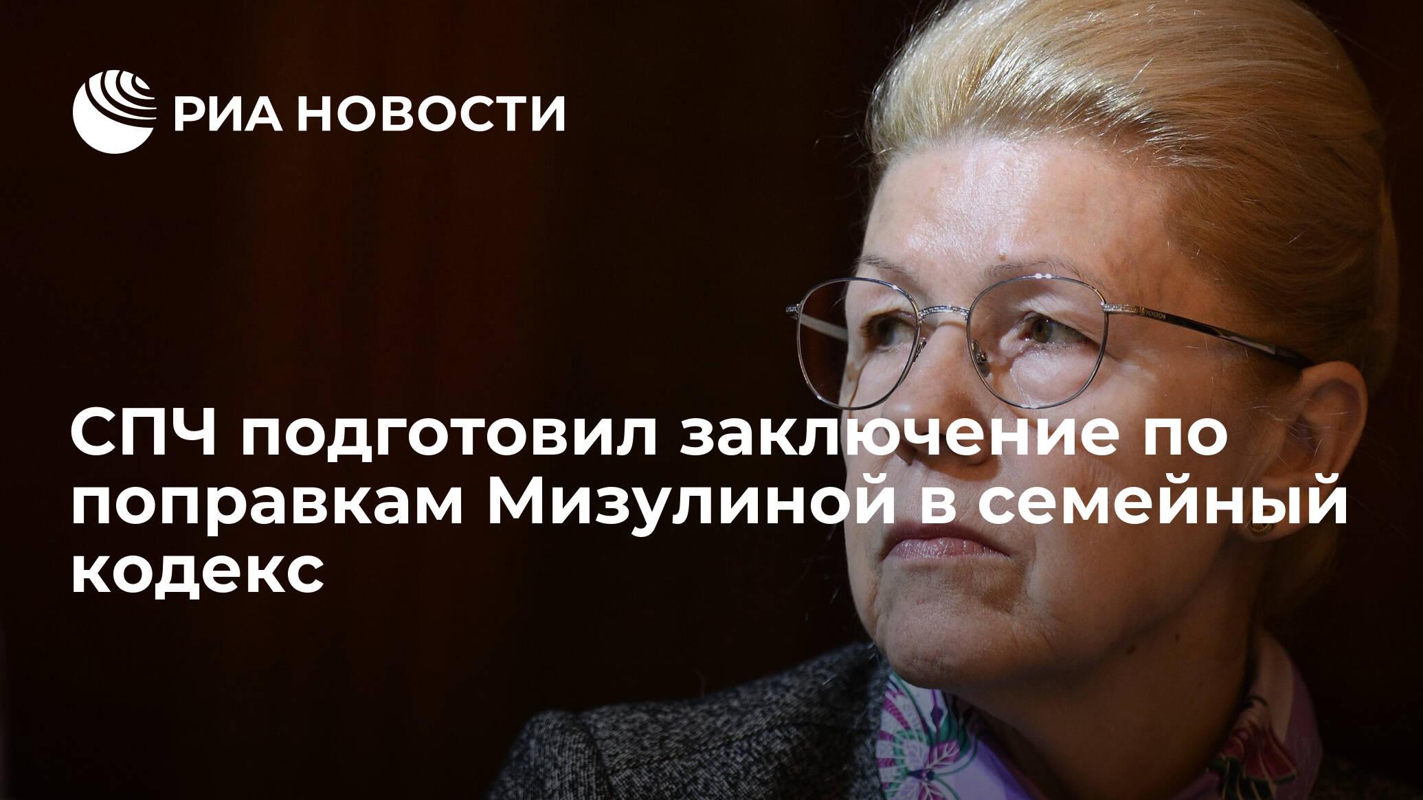 СПЧ подготовил заключение по поправкам Мизулиной в семейный кодекс