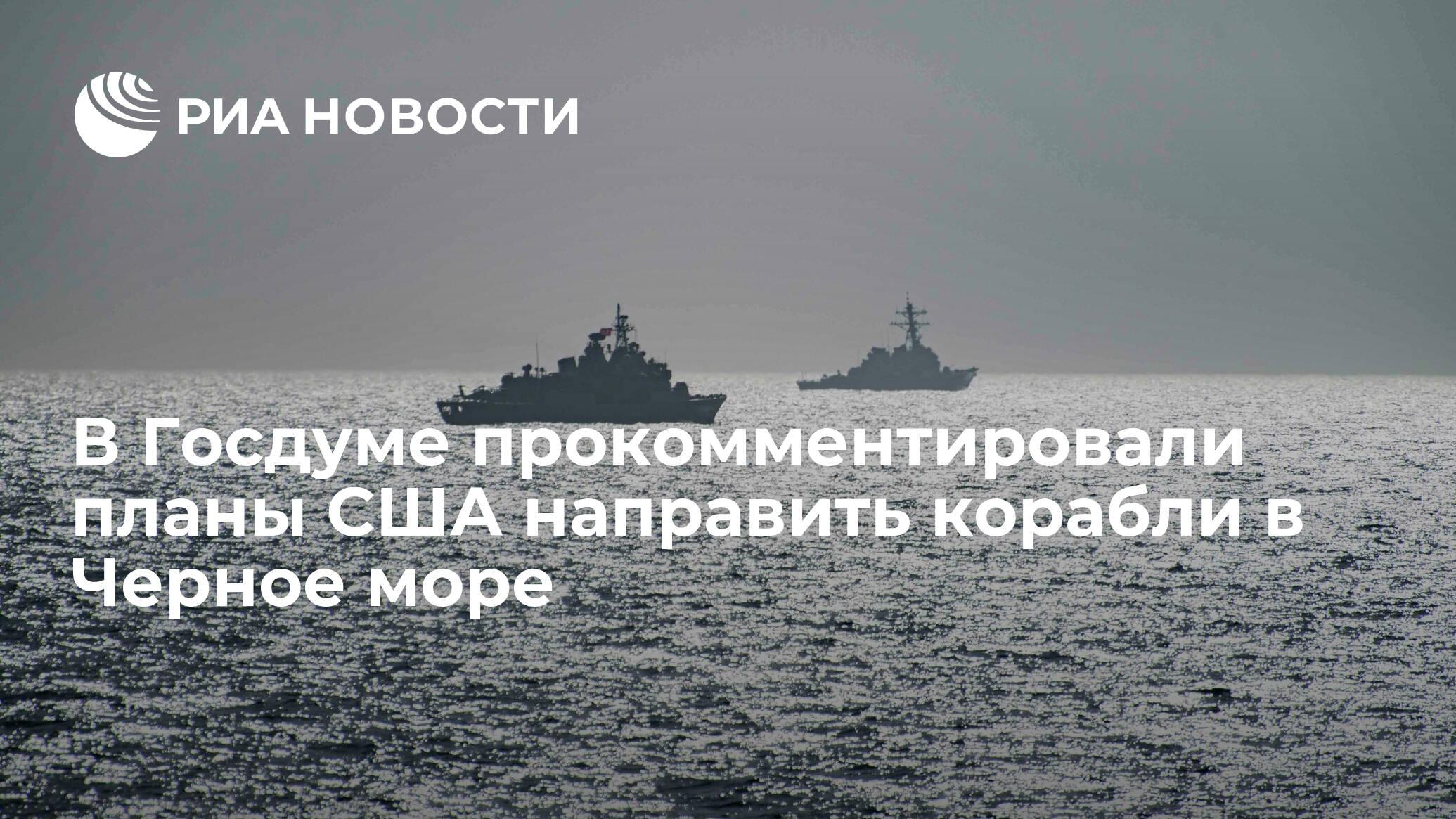 В Госдуме прокомментировали планы США направить корабли в Черное море